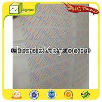 Master signature strip,signature panel sticker,master signature panel