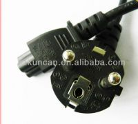 stripped VDE power plug for laptop