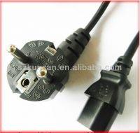 90 degree  gray 250v 10A French power plug