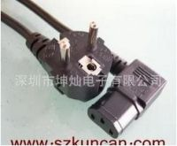 right angle gray 250v 10A  VDE power plug for laptop