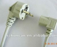 250V AC 3 prong standard VDE power cord