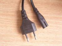 stripped VDE 2pin AC power plug 6ft szkuncan