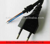 stripped EU 2pin AC power plug 6ft szkuncan