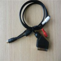 21pin scart cable for XOBX 1.5m ,2m to din 9 pin