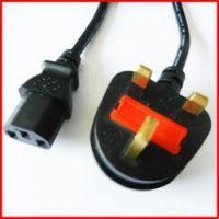 computer power cord with uk 3 pins plug