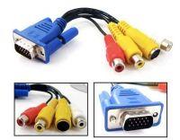 vga to rca splitter S-Video AV TV Adapter Conventer Cable for HDTV Laptop