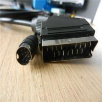 21pin scart cable to mini din 8 pin  IPTV 1.5m ,2m