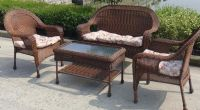 Outdoor rattan furniture set