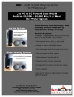 Stove Pipe Heat Reclaimer for Wood Stoves (HB2)