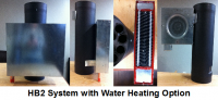 Stove Pipe Heat Reclaimer with Water Heating