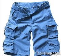 Wholesale 100% cotton twill garment dyed cargo shorts