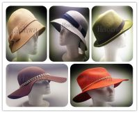 100% wool women vintage fashion felt  fedora hat