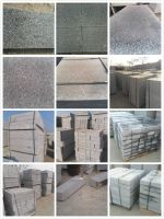 gray granite curbstone, paving tiles