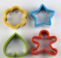 Silicone cookie cutter set