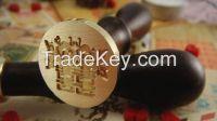 elegant and fashion wedding wax stamp with custom logo