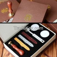 wax seal set With Custom Logo/Metal Brass Wax Seal