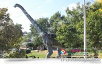 theme park dinosaur statue