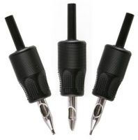 """1""""(25mm)  high quality Disposable  soft Tattoo Grips with Clear Tip"""