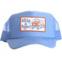 Chip & Pepper Trucker Hat - Light Blue with White Truck Patch
