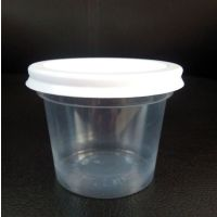 4.5oz disposable plastic ice-cream cup with lid