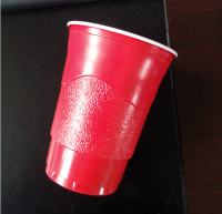 PS 16oz disposable plastic party red beer cup