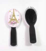 Polyresin Hair Comb with Metal Butterfly
