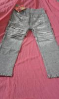 Zip Detail Print Denim Leggings (Linton)