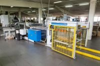Automatic 3-piece can body production line (based on Cepac slitter, Soudronic welder, Lanico combination machine)
