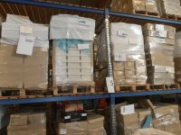 Stock of unprinted window envelopes in various sizes