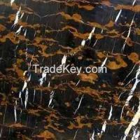 Black & Gold Marble Tiles 60x30x2 cm Polished