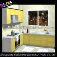 high glossy uv mdf panel kitchen cabinet