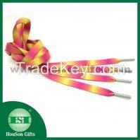 2014 Custom colorful print shoelace