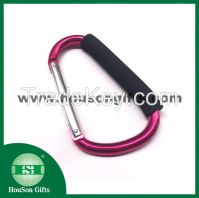 D shape big aluminum carabiner hook with foam handle