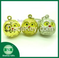 2014 new product Christmas decoration owl  jingle bell