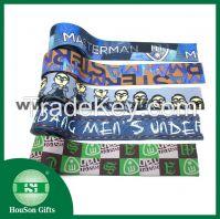 Customized sublimation print elastic waistband for boxer underwear