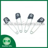 2014 new product custom Plastic head safety pins