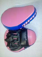 Boxing Focus Pads, mitts, Coach gloves made of PU synthetic Leather, Rexine