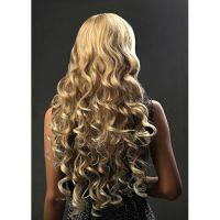 Per�¼cke lang blond in gro��en Locken aus Kanekalon -- dicht XC96-27T613
