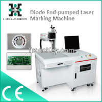 Diode end pumped laser marking machine