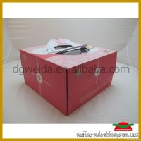 Paper Cake Box with Handle & Window