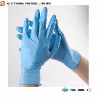 Nitrile exam gloves
