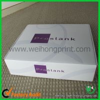 Corrugated Paper Box with Plastic Handle