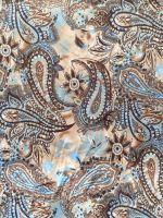 polyester singe jersey print knitting fabric