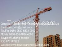 Leg Fixing Type Hammer Head Tower Crane With 75m Jib TC7520-16