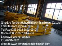 Tower Crane Mast Section L68B1 Q345B Steel Interchangeable Plated type