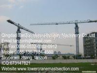 TCP6512-10 Leg Fixing Type Flat Top Tower Crane, China Machinery Manufa