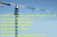 8 Ton 180m jib TCP6015-8 China Flat Top Tower Crane Manufacturer For C