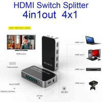 Support 3D HDMI switch splitter 4X1 1.4V 4 in input 1 out output converter extender HDMI 1.4B