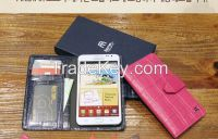 Genuin real leather  phone case (wallet type)