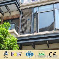 AFOL double glazed casement window, aluminum window for home